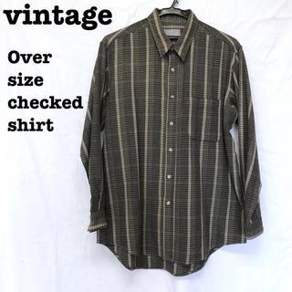 美品【 vintage 】 チェックシャツ オーバサイズシャツ ネルシャツ(シャツ)