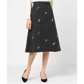 Demi-Luxe BEAMS◆フラワー刺繍スカート