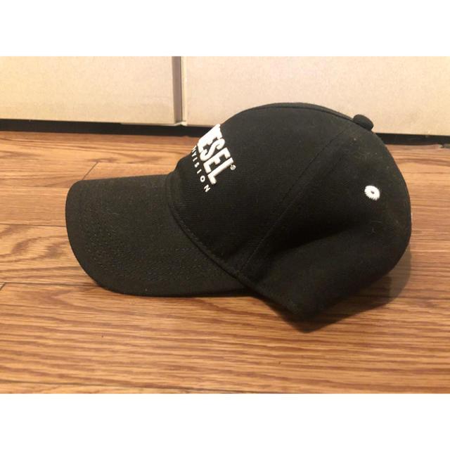 DIESEL(ディーゼル)のDIESEL ロゴキャップ 黒 メンズの帽子(キャップ)の商品写真