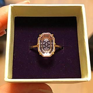 アガット(agete)のアガット  ピンクアメジスト フラワー  透かし彫りリング(リング(指輪))
