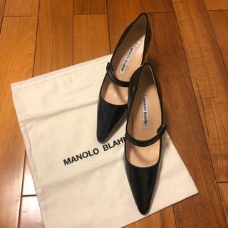 MANOLO BLAHNIK - マノロブラニク  36 1/2 36.5 新品未使用 黒 パテント