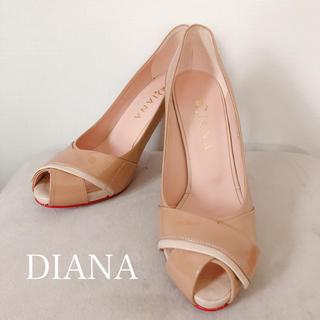ダイアナ(DIANA)のDIANA パテントクロスオープントゥパンプス(ハイヒール/パンプス)