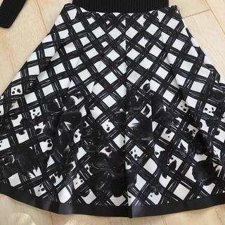 M'S GRACY - エムズグレーシー(2)花柄スカート  ブラック 38サイズ  美品