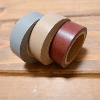 MUJI (無印良品) - 無印良品  マスキングテープ3色