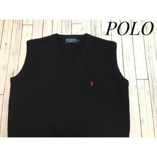 POLO RALPH LAUREN - Pole mical ワンポイント胸刺繍 ニットセーターベスト