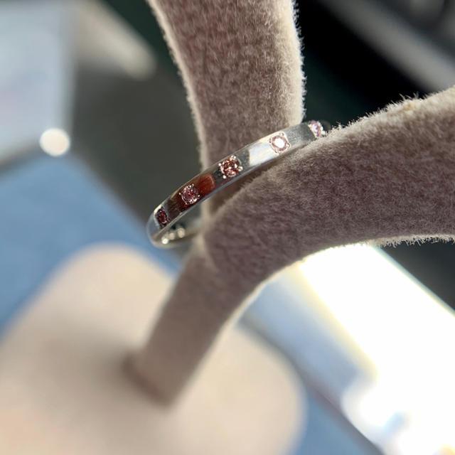 ピンクダイヤ ピンキーリング pt900  レディースのアクセサリー(リング(指輪))の商品写真