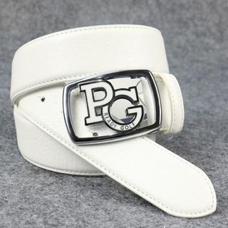 PEARLY GATES - ゴルフベルト パーリーゲイツ PG レザーベルト 白 サイズ 115
