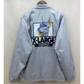 エクストララージ(XLARGE)の貴重サイズ!XLARGE× 空山 基 ナイロンジャケット Lシルバー ロボット犬(ナイロンジャケット)