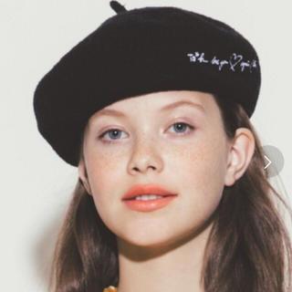 アニエスベー(agnes b.)のagnes.b. ベレー帽 黒(ハンチング/ベレー帽)