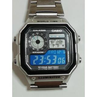 CASIO - 【分割液晶反転】カシオ スタンダード腕時計 AE-1200WHD-1A