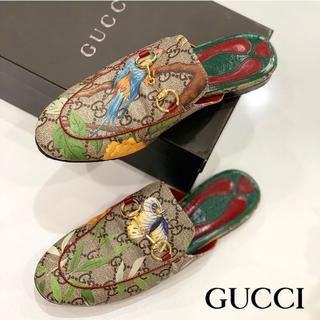 Gucci - 1220 美品 グッチ プリンスタウン GGスプリーム ティアン サンダル