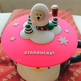 Starbucks Coffee - スタバ 台湾 ホリデー 2019 あざらし ベアリスタ シリコンリッド 蓋