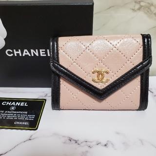 CHANEL - ラムスキンカードケースウォレットピンク♡CHANELノベルティー財布定期入れパス