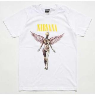 〇ニルヴァーナ 半袖 Tシャツ IN UTERO 2 ニルバーナ 白 メンズ