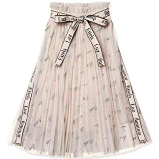 snidel - snidel チュールロゴスカート