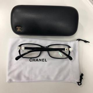 CHANEL - CHANEL リボン付き眼鏡 黒ぶちフレームレンズ付き