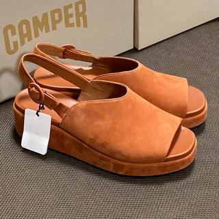 カンペール(CAMPER)の新品 Camper Misia カンペール ミシア サンダル ブラウン 40(サンダル)
