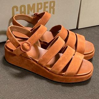 カンペール(CAMPER)の新品 Camper Misia カンペール ミシア サンダル ブラウン 41(サンダル)