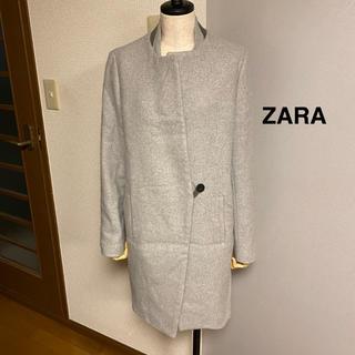 ザラ(ZARA)の【ZARA】ザラ スタンドカラー コクーンコート グレー ロングコート(ロングコート)