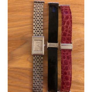 ブシュロン(BOUCHERON)の美品 ブシュロン リフレ ダイヤ巻モデル ステンレスベルト ベルト3本セット (腕時計)