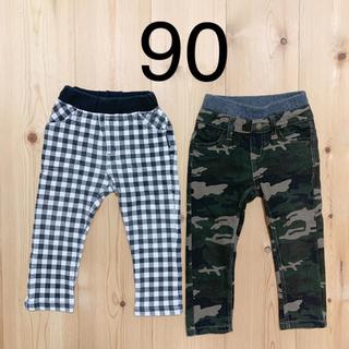 アカチャンホンポ(アカチャンホンポ)の【USED】パンツ ズボン 90 2点セット(パンツ/スパッツ)
