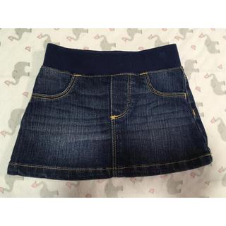 OLD NAVY パンツ付き デニムスカート 80