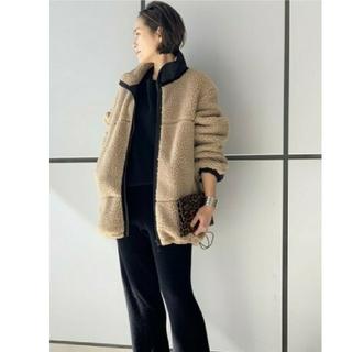 L'Appartement DEUXIEME CLASSE - 【YETI/イエティ】 フリースオーバージャケット AP STUDIO ベージュ