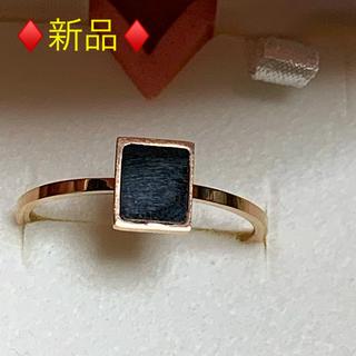 ♦️新品♦️SV ブラックエナメル リング❤︎/16〜17号(リング(指輪))
