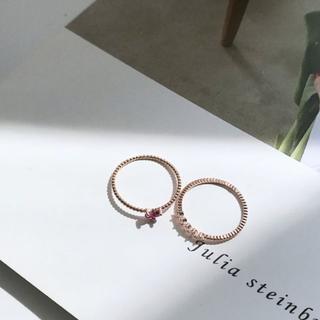上品 清楚 大人 カジュアル オフィス 女性 リング2点セット(リング(指輪))
