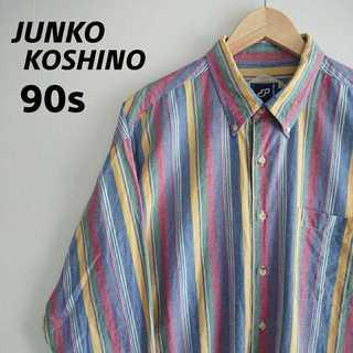 ミスタージュンコ(Mr.Junko)の804 90s コシノジュンコ マルチストライプ BDシャツ ビッグシルエット(シャツ)