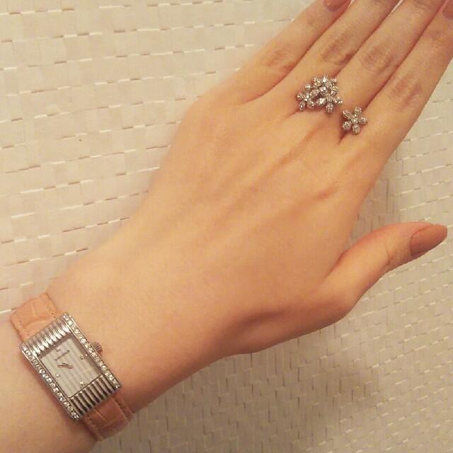 BOUCHERON(ブシュロン)の美品☆ブシュロン リフレ SS サイドダイヤ スモール レディースのファッション小物(腕時計)の商品写真
