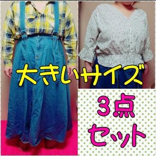 プニュズ(PUNYUS)の大きいサイズ プニュズ ロングスカート+シャツ(ロングスカート)