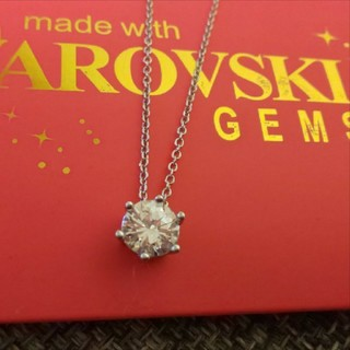 SWAROVSKI - f60❇️オーキッド❇️ 1粒 ダイヤモンドキュービックジルコニア ネックレス