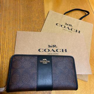 COACH - COACH コーチ 長財布 ブラウンブラック
