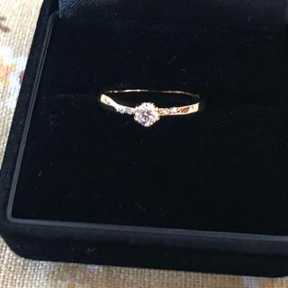 アガット(agete)のアガット  k18  ダイヤモンドリング  0.159カラット  11号(リング(指輪))