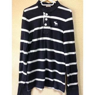 Abercrombie&Fitch - アバクロボーダーシャツ【週末限定価格.中古品】