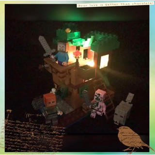 マイクラ レゴ 互換品 ミニフィグ付き LEDライトブロック 見張り台