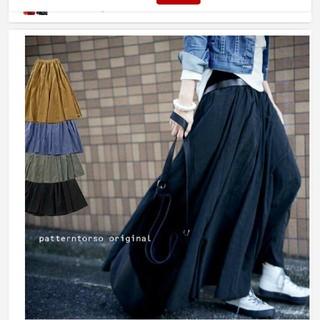 アンティカ(antiqua)のロングフレアスカート 新品 ブラック(ロングスカート)