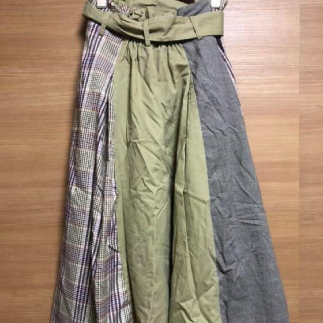 mysty woman(ミスティウーマン)のmistywoman ミスティウーマン チェック ロングスカート レディースのスカート(ロングスカート)の商品写真