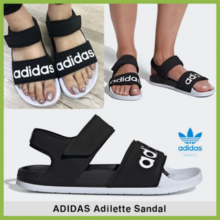アディダス(adidas)のアディダス アディレッタ 24.5cm サンダル F35416(サンダル)