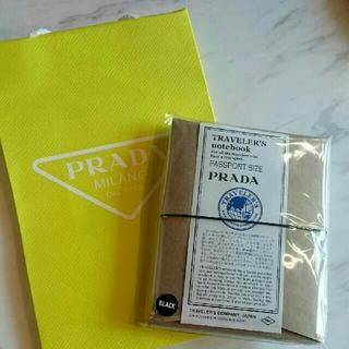PRADA×トラベラーズノート パスポートサイズ ブラック
