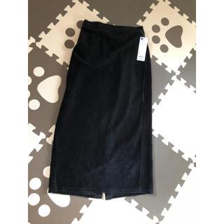 GU - gu ベロアナローミディスカート 黒 新品 S