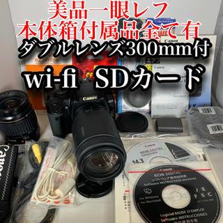 Canon - 一眼レフ 美品canon EOSX超望遠300mm wi-fi  SD 16GB