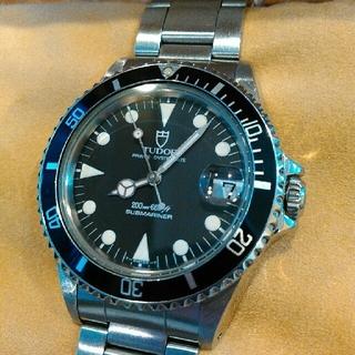 Tudor - 日本ロレックス見積書付き チュードル サブマリーナ ブラック 75090 美品