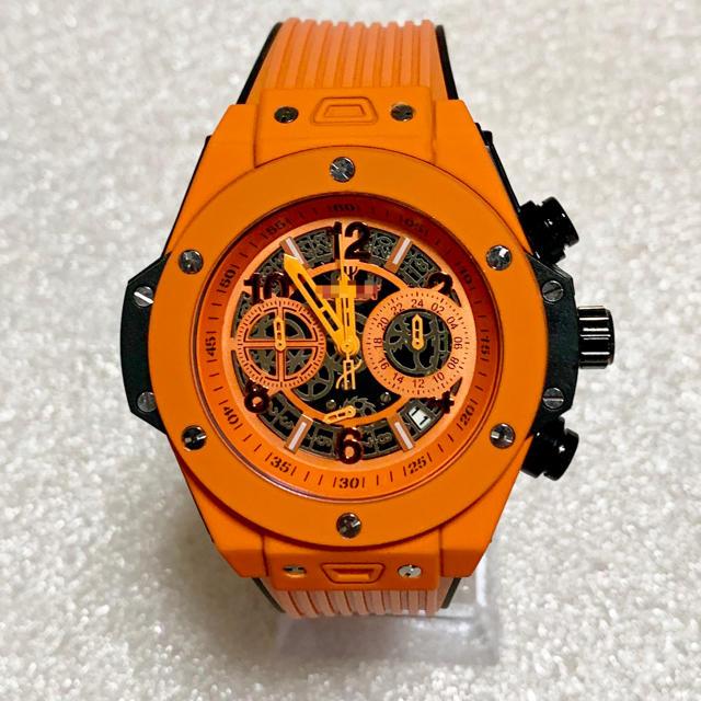 スーパーコピー 韓国 時計 q&q 、 ウブロ オマージュウォッチ スポーツ メンズ腕時計・orange how131の通販 by ヒロ's shop