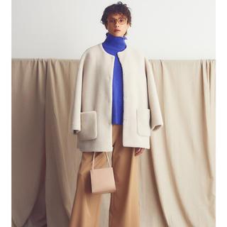 Mila Owen - 新品タグ付き⭐︎ミラオーウェン ⭐︎ ノーカラーシャツカーブボアジャケット