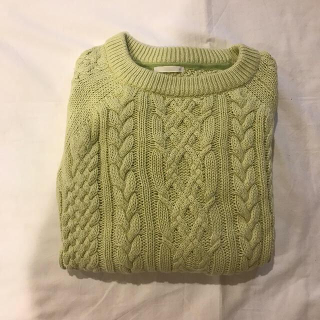 ピスタチオカラー ニット レディースのトップス(ニット/セーター)の商品写真
