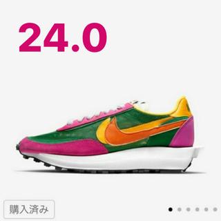 ナイキ(NIKE)の24.0 Nike sacai LDWaffle  ナイキ サカイ(スニーカー)
