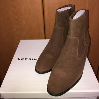 LEPSIM - 新品・未使用 スタックヒールブーツ  Lサイズ
