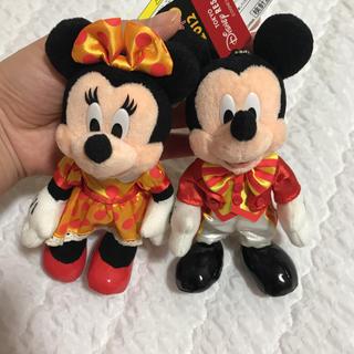 ディズニー(Disney)のミッキー&ミニーぬいぐるみバッジ(キャラクターグッズ)